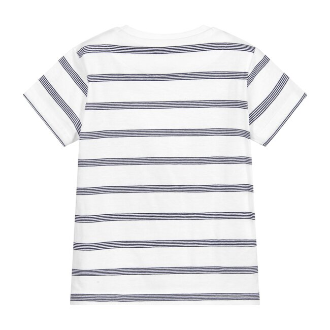 Striped Cars T-Shirt, White