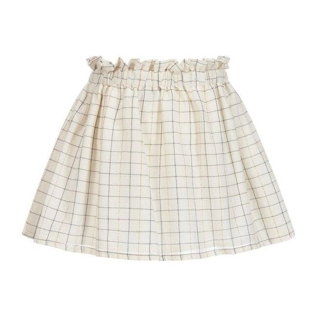 Plaid Skirt, Ivory