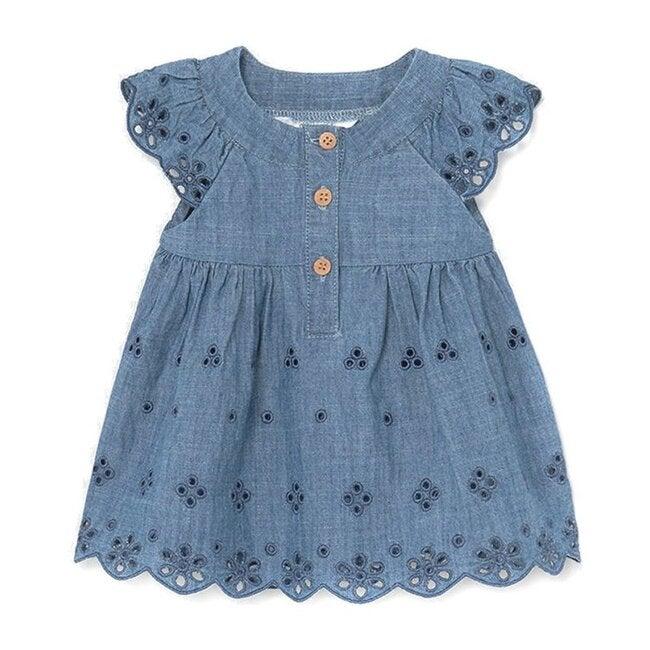 Denim Lace Dress, Blue