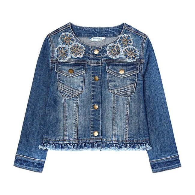 Denim Applique Jacket, Blue