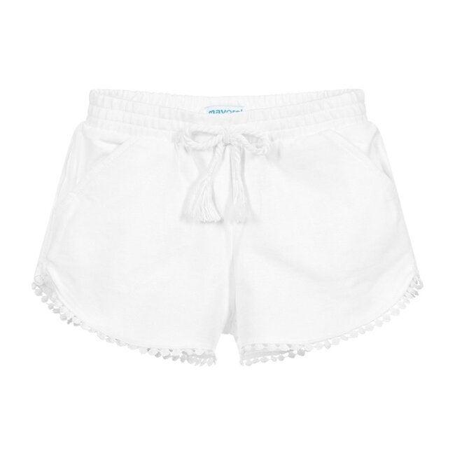 Chenille Shorts, White