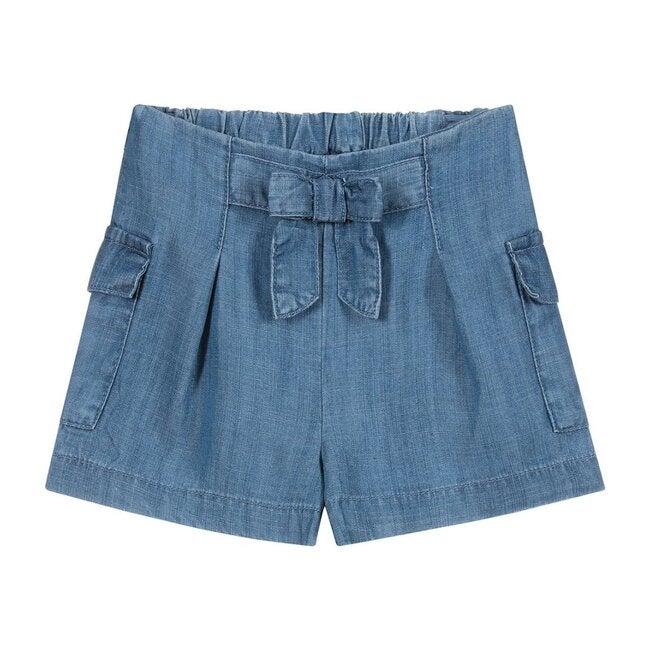 Chambray Shorts, Blue