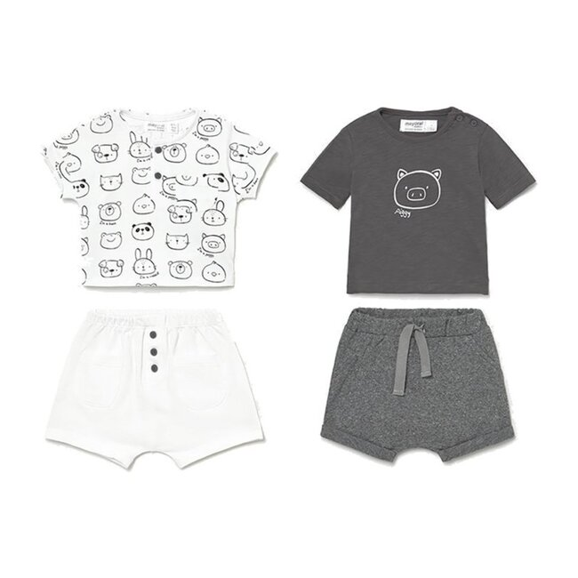 4 Piece Animal Outfit Set, Gray