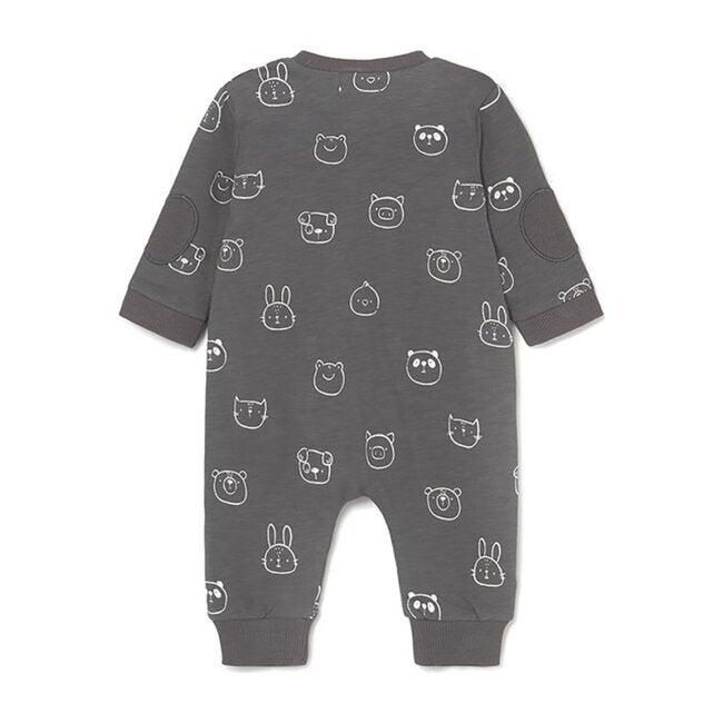 Animals Print Bodysuit, Gray