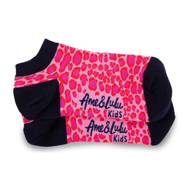 Sporty Feet Socks, Pink Leopard
