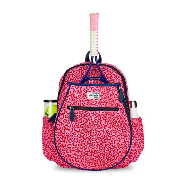 Big Love Tennis Backpack, Pink Leopard