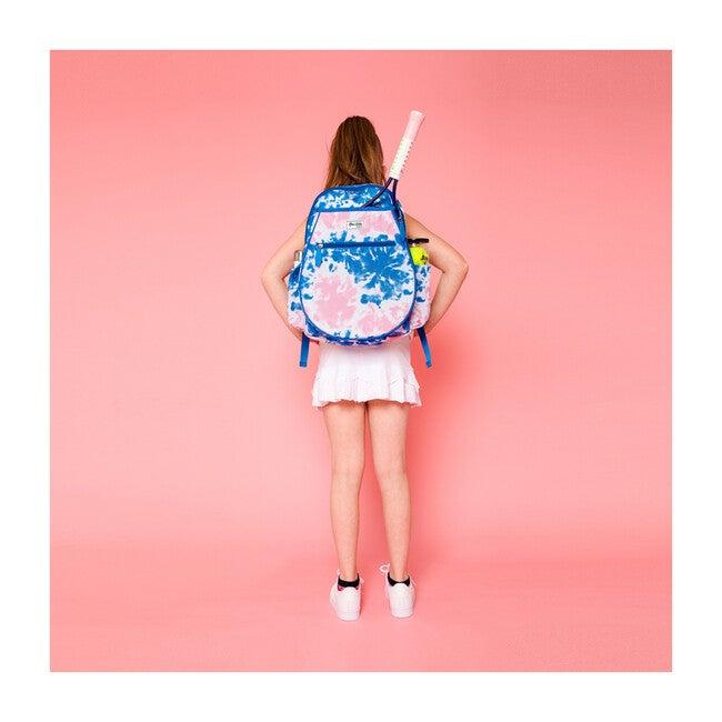 Big Love Tennis Backpack, Blue and Pink Tie Dye
