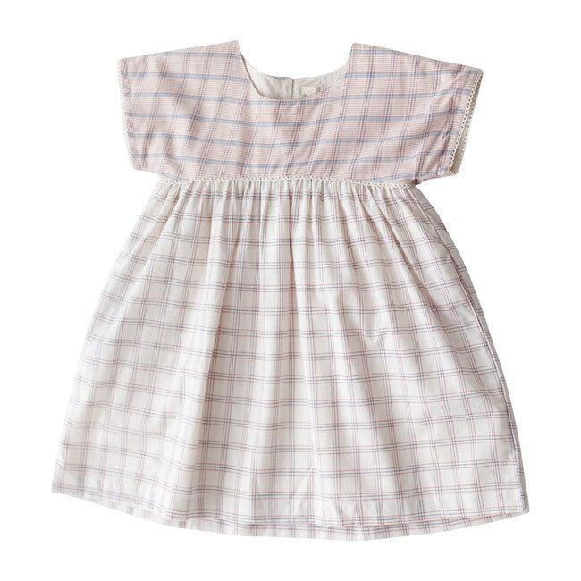 White Chex Gooseberry Dress