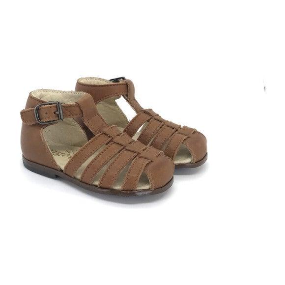 Jules T-Strap Sandal, Cognac