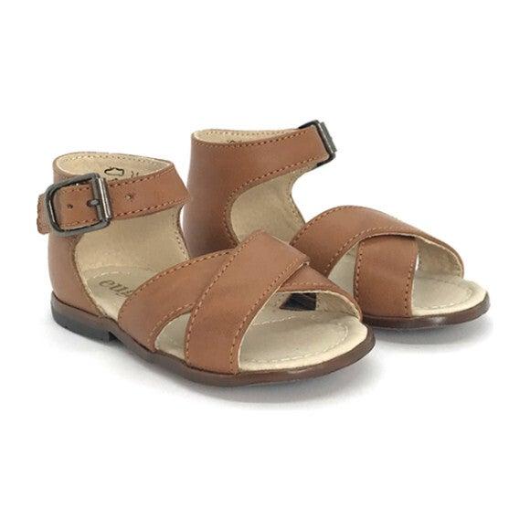 Athina Ankle Strap Sandal, Cognac