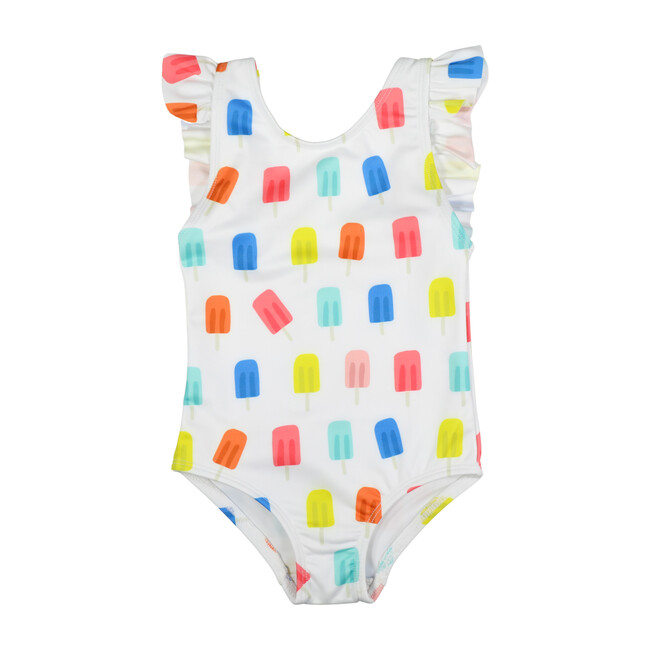 Riley Ruffle One Piece, Popsicle