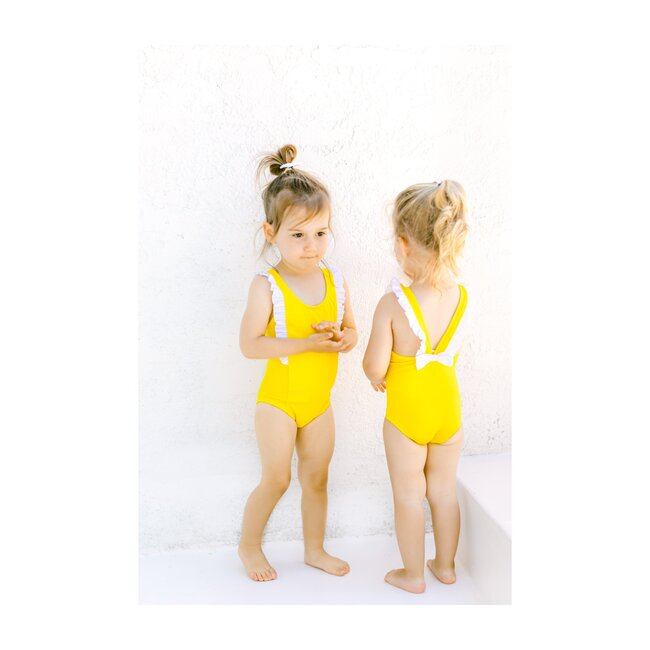 Ayla Ruffle One Piece, Lemon