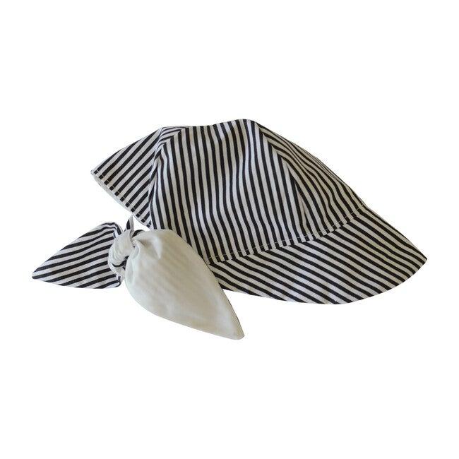 Sun Bonnet, Black and White Stripes