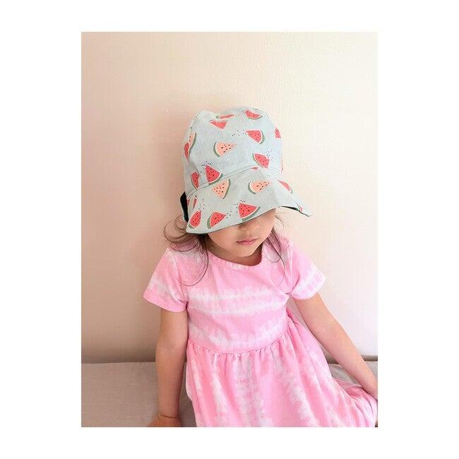 Sun Bonnet, Watermelons on Aqua