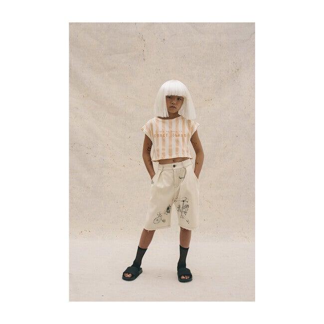 Soft Carrousel Crop Top, Orange Stripe
