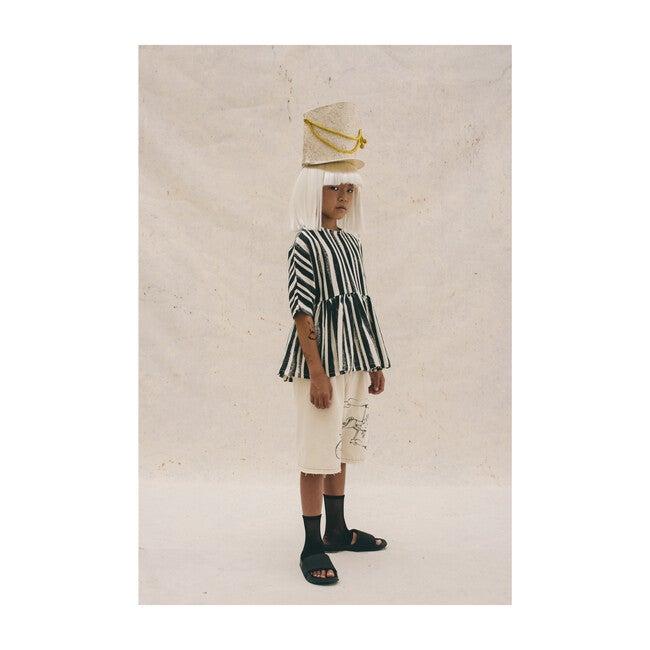 Swing Blouse, Black Stripe