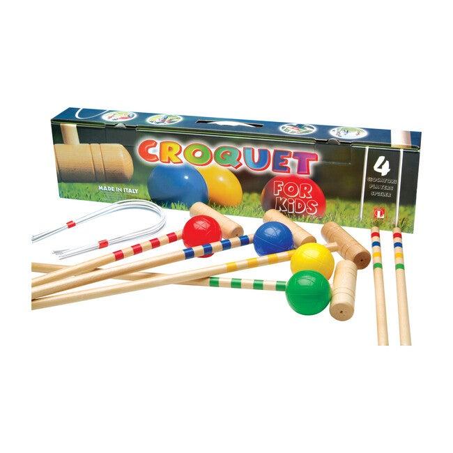 Children's 4-Player Croquet Set