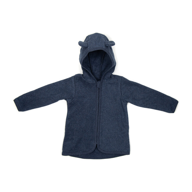 Cotton Fleece Jacket w/ears, Navy
