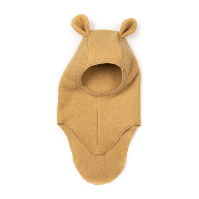 Cotton Fleece Teddy Balaclava, Ochre