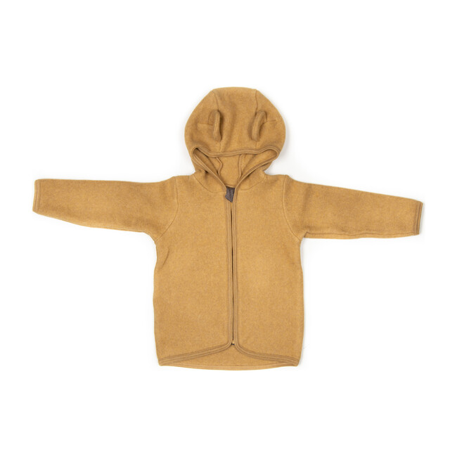 Cotton Fleece Jacket w/ears, Ochre