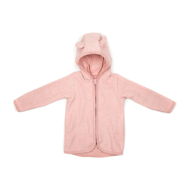 Cotton Fleece Jacket w/ears, Dusty Rose