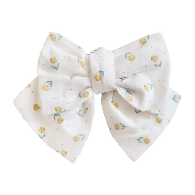 Marbella Bow Hairclip, White