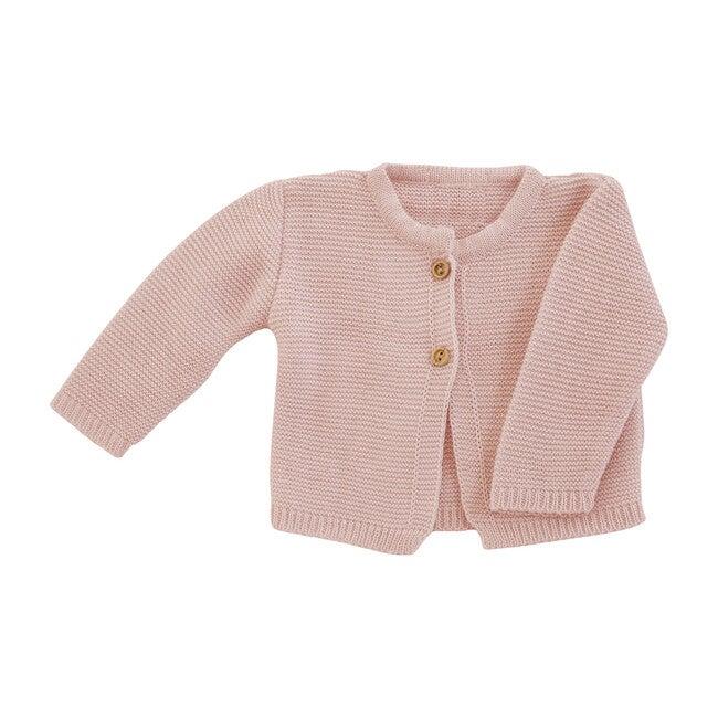 Classic Knit Cardigan, Pink