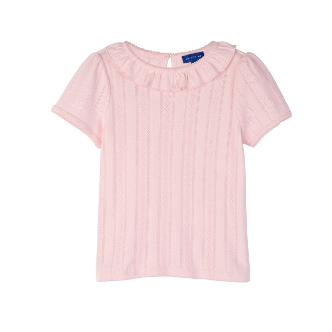 Monique Pointelle Tee, Pink