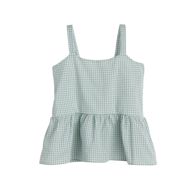 Imani Top, Mini Sage Gingham