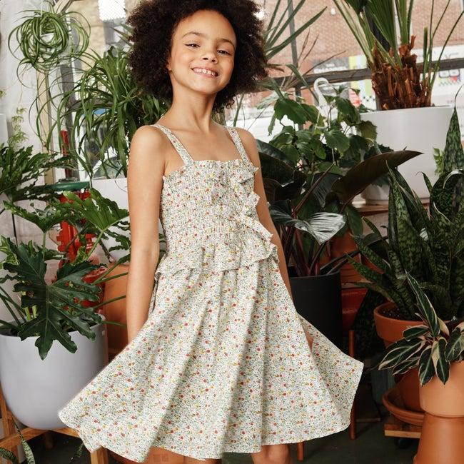 Naomi Dress, Cream Floral