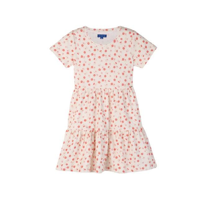 Pauline Dress, White Poppies