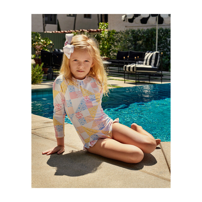 *Exclusive* Girl's Rashguard One Piece, Patchwork