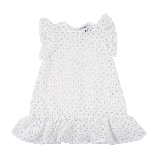 Sleeveless Beach Dress, White Eyelet
