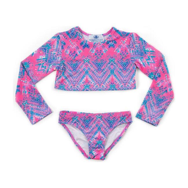 Long Sleeve Bikini, Pink