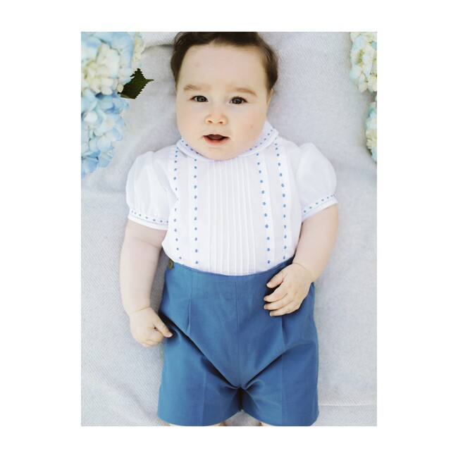 Button On Suit, Royal Blue