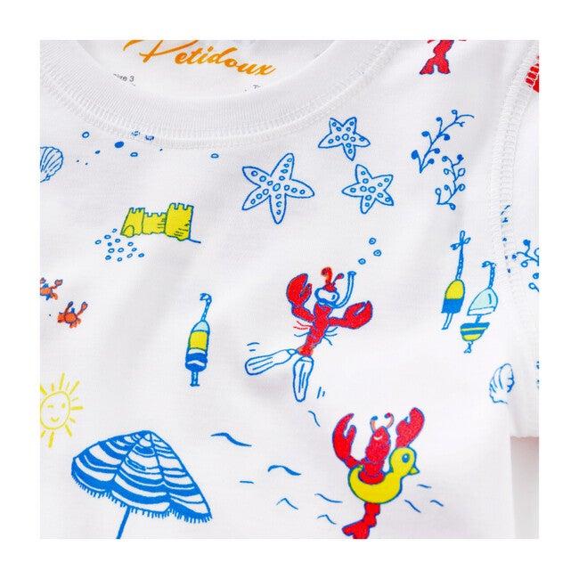 Lobsters On Vacation Summer Pajama Set, Multi