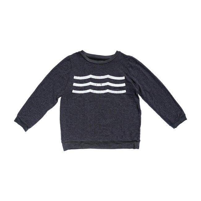 Waves Hacci Pullover, Black