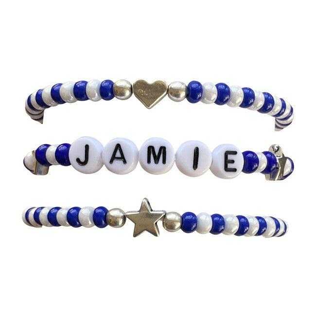 Blue & White Bracelet Set