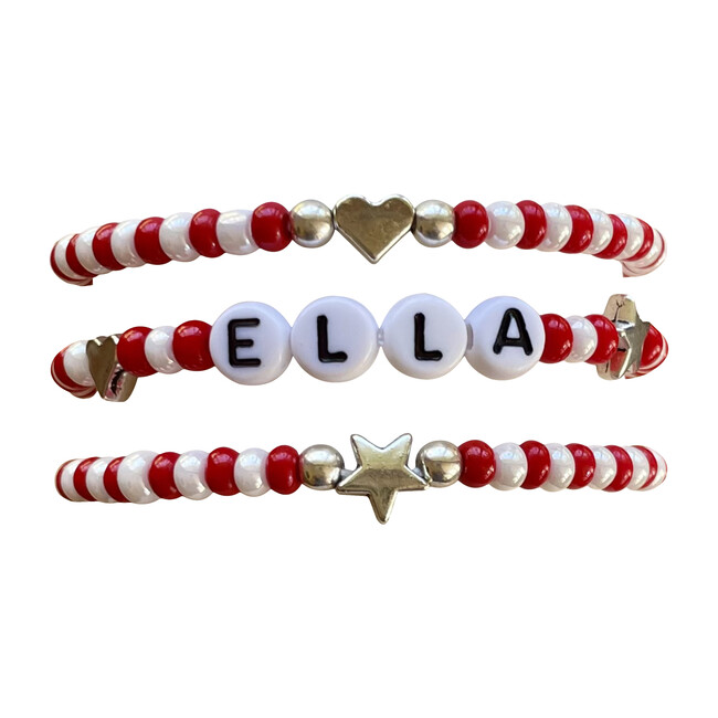 Red & White Bracelet Set - Bracelets - 1