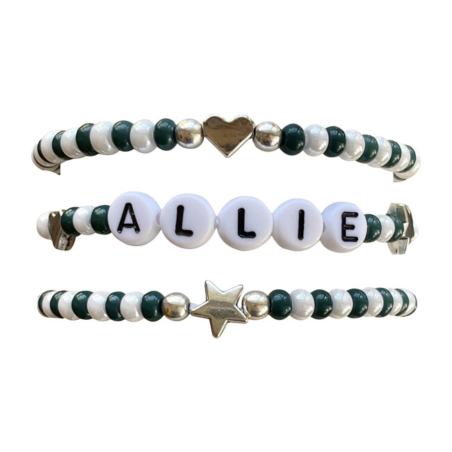 Green & White Bracelet Set