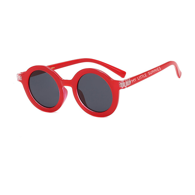 Round Retro Sunglasses, Candy Red