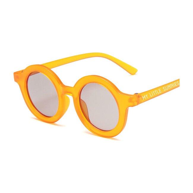 Round Retro Sunglasses, Light Tangerine