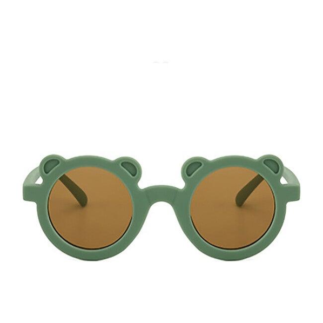 Round Bear Sunglasses, Succulent Green