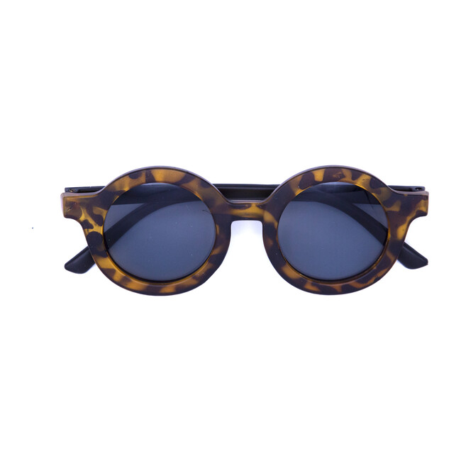 Round Retro Sunglasses, Black Tortoise
