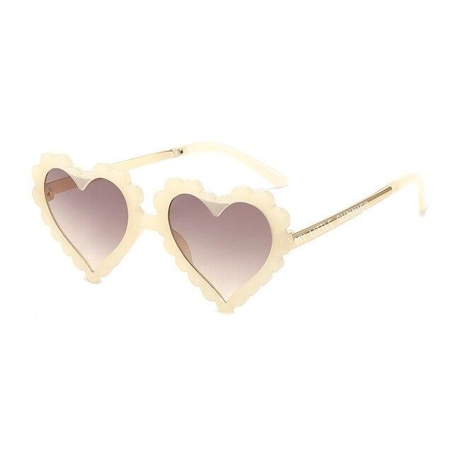 Heart Sunglasses, Ivory