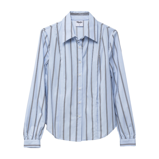 Women's Nursing Work Shirt, Blue Stripe
