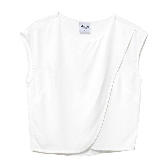 Women's Crossover Nursing Top, White