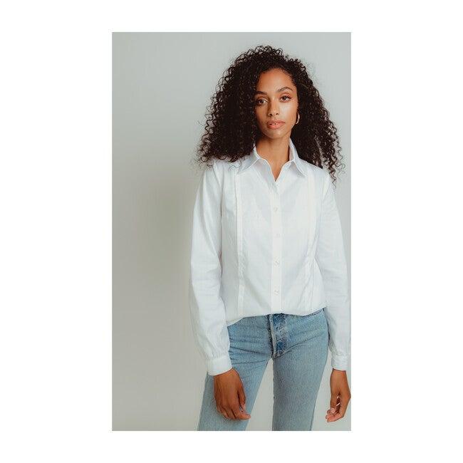 Women's Nursing Work Shirt, White