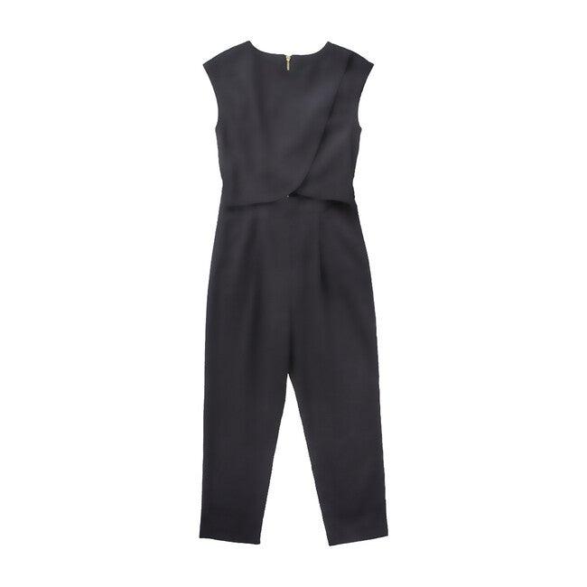 Women's Crossover Nursing Jumpsuit, Black