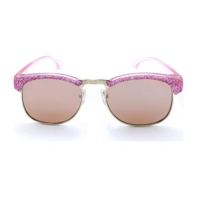 Adell Sunglasses, Mirrored Pink
